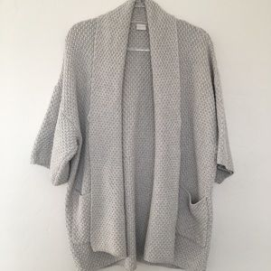 Poetry Stitch Cardigan Sweater 3/4 length sleeves
